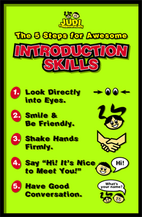 5 Steps for Awesome Introduction Skills chart